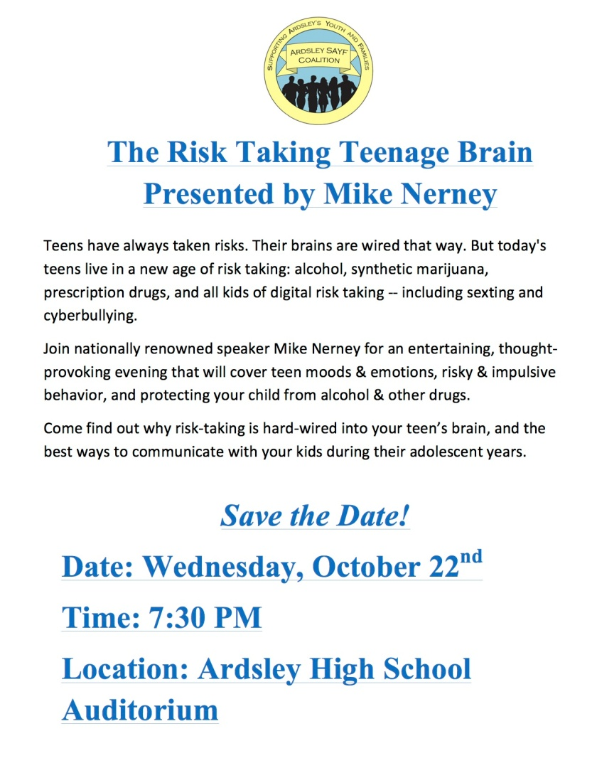 Welcome to the Risk Taking Teenage Brain
