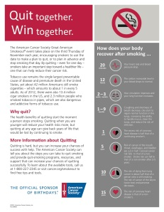 2014 Great American Smokeout info