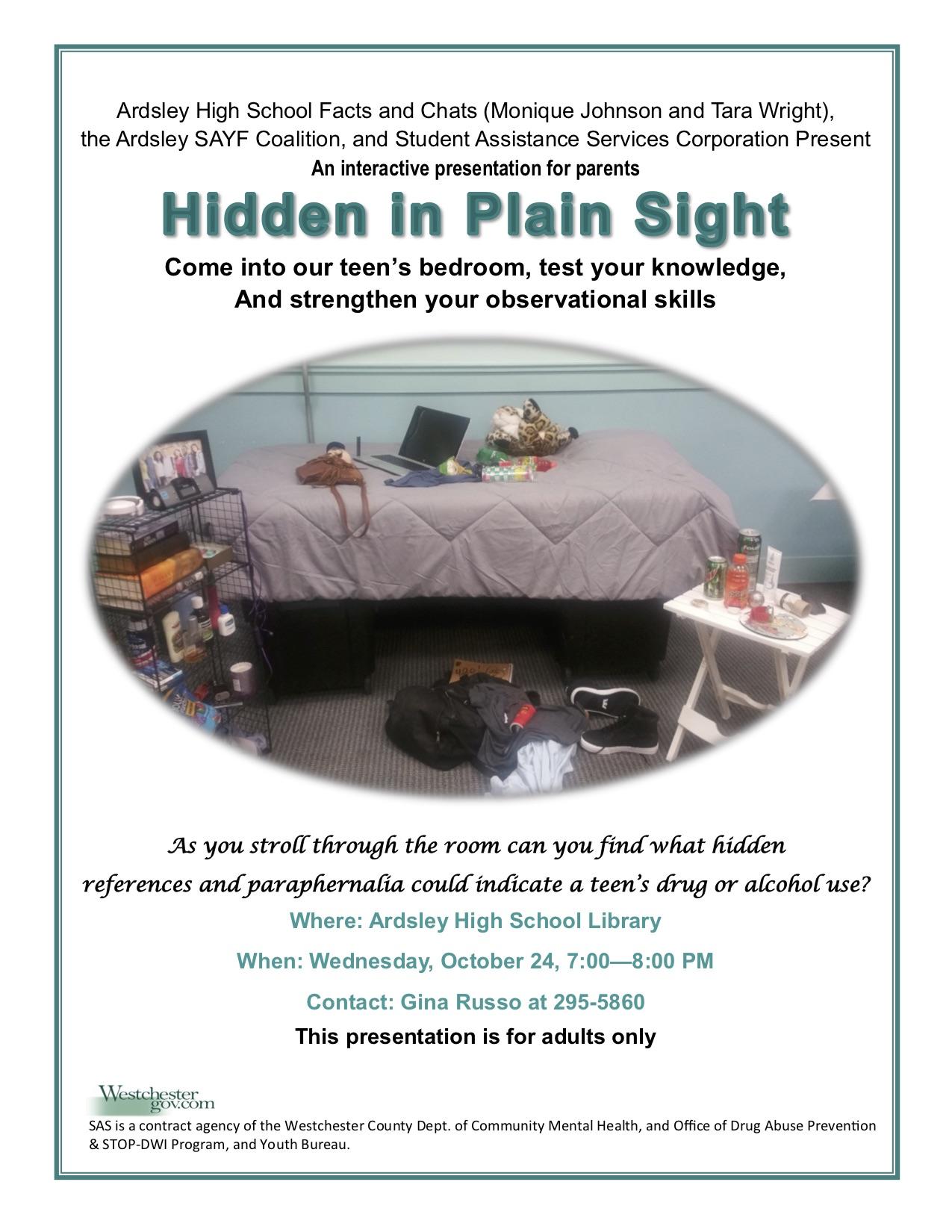 10-24-18 Hidden in Plain Sight Ardsley