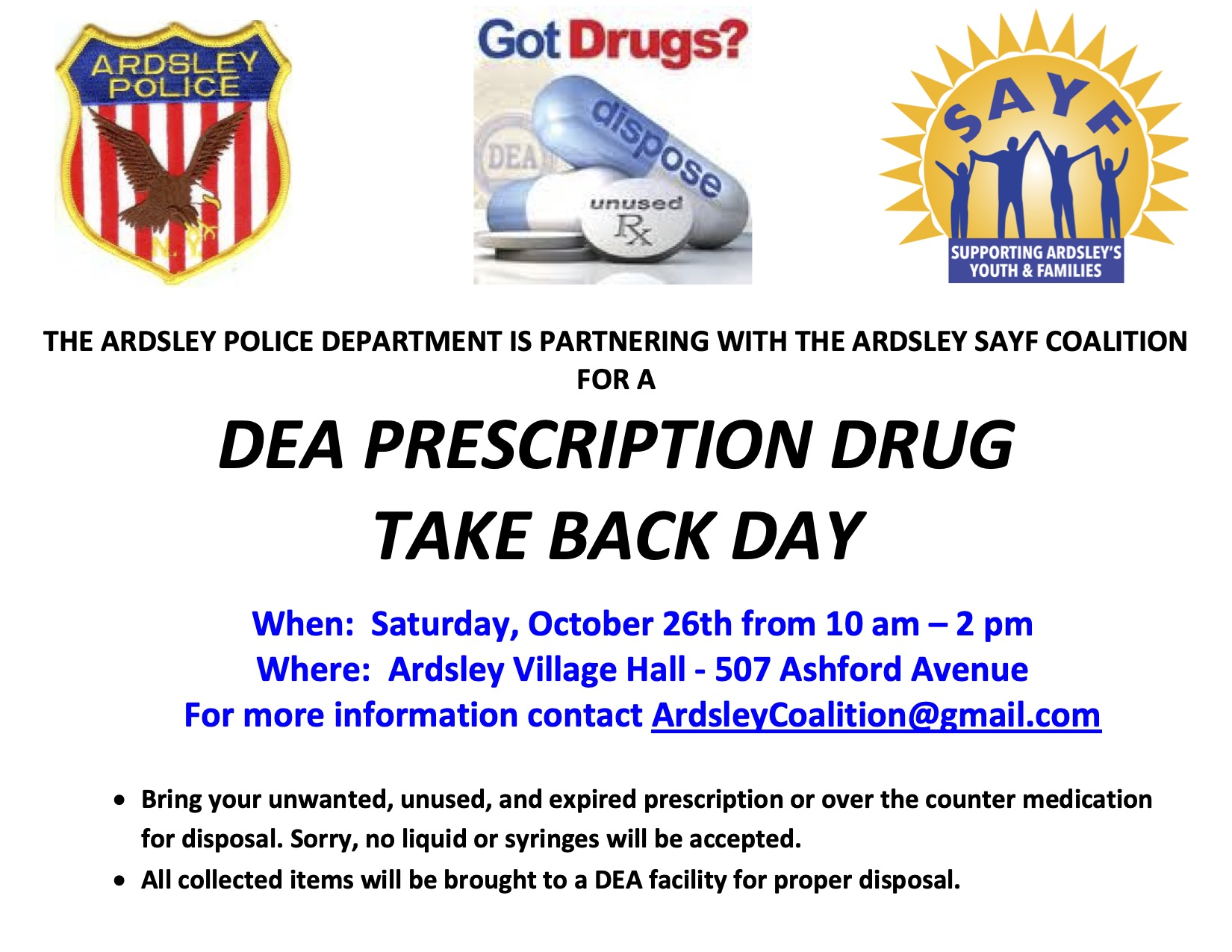 drug giveback day 10262019